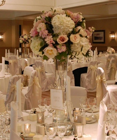 Ivory hand ironed chair covers at Cameron House