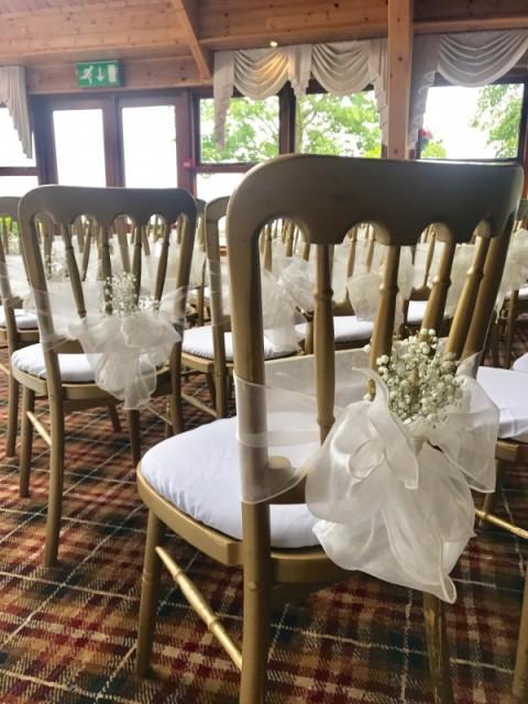 White seat pads