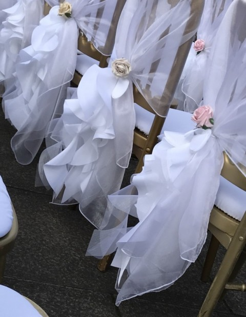White taffeta and organza tail. £1.00 each, replacement value £10.00 each
