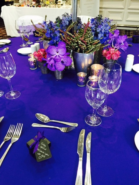 Coloured table linen