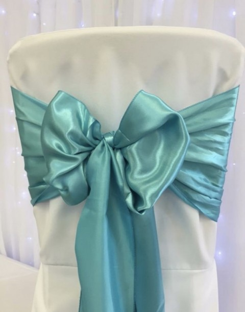 Tiffany satin. Hire price £1. Replacement value £4 each.