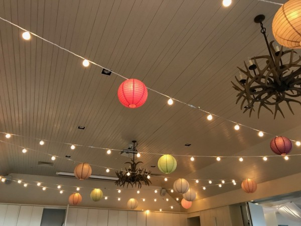 Festoon lights warm white & lanterns at LLArms - £165.00. Replace value £400.00