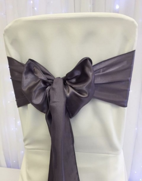 Grape satin. Hire price £1. Replacement value £4 each.