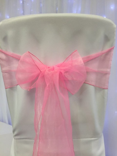 Barbie pink organza. Hire price £1. Replacement value £3 each.