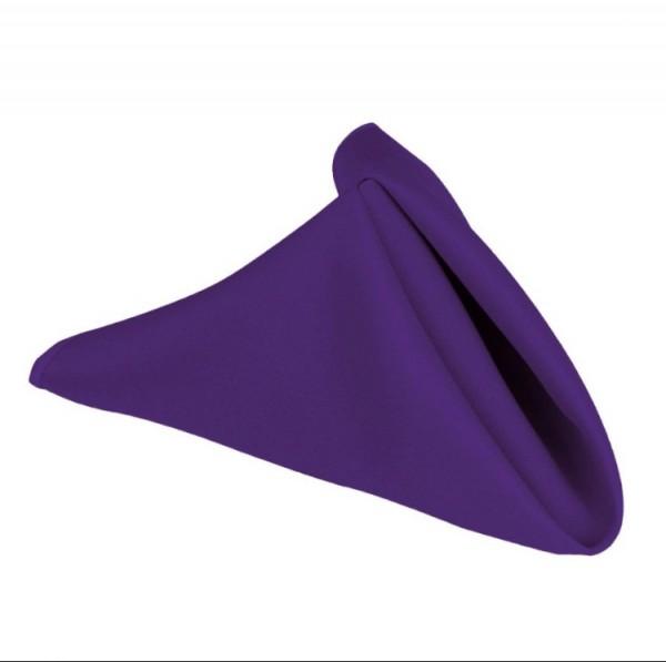 Purple linen napkin. 70p to hire. Replacement value £3 each.