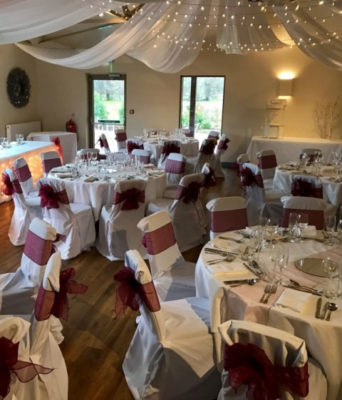 Hand ironed chair covers at Loch Lomond Arms