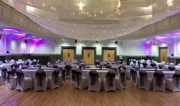 Pea light canopy in warm white £250, Clydebank Town Hall. Replacement value £800.00