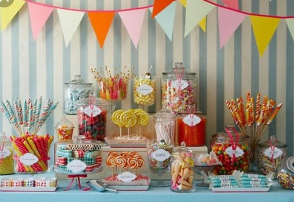 Various glass jars for your candy table