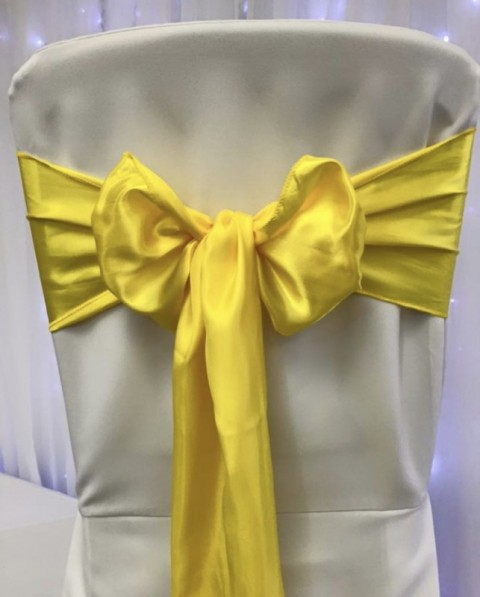 yellow satin. Hire price £1. Replacement value £4 each.