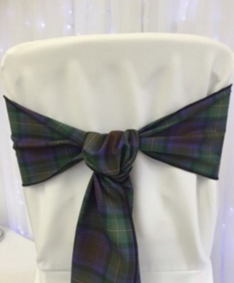 Isle of Skye tartan. £1.25 to hire. Replacement value £5 each.