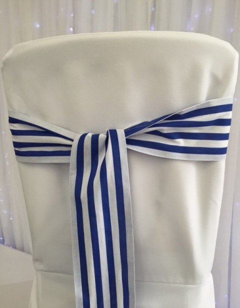 Sailor stripe sash. £1 to hire. Replacement value £5 each (low stock)
