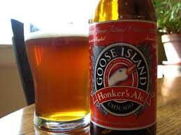 Honkers Goose Island  Honker's Ale combines a fruity hop aroma with a rich malt middle to create a perfectly balanced beer . Immensely drinkable, Honker's Ale is not only the beer you can trust but one you'll look forward to time and again.
