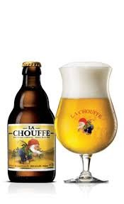 La Chouffe-an unfiltered blond beer which is refermented both in the bottle and in barrels. It is pleasantly fruity, spiced with coriander and tinged with hops.