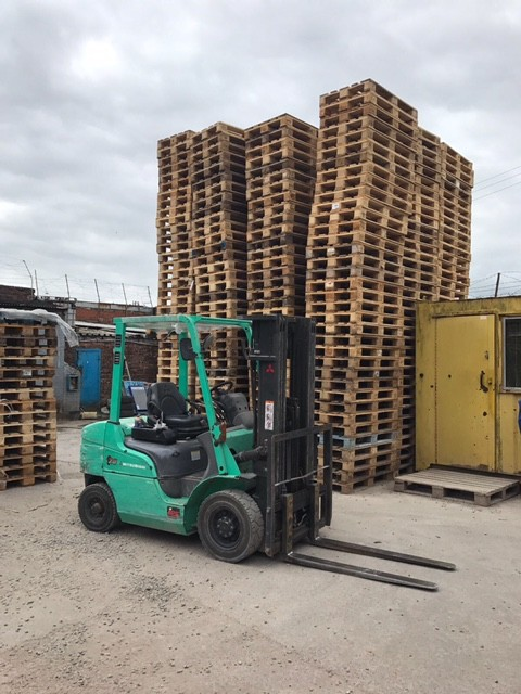 Forklift being used to load the lorry