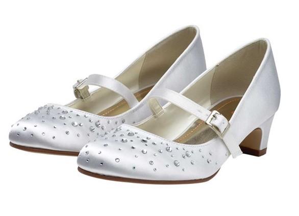 RAINBOW CLUB - CHERRY - Sparkly communion bar shoe £33