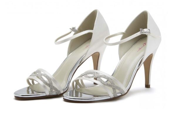 DAKOTA - Ivory satin & shimmer sandal