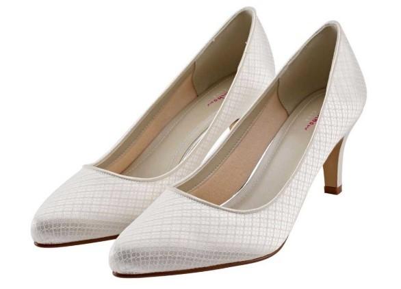 BROOKE - Ivory cosmic lace court shoe £79