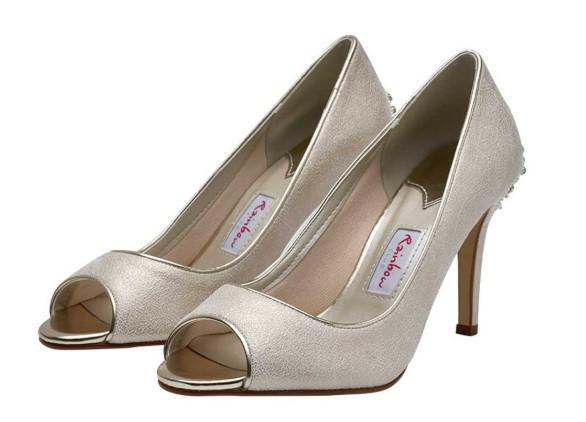NATALA - Embellished heel peep toe shoe £125