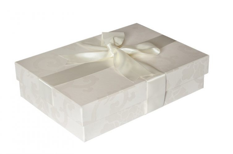 Medium Wedding Dress Box - Shown in Endleigh Ivory