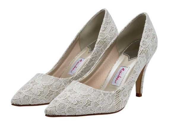 GIVERNEY - Shimmer lace court shoe £99
