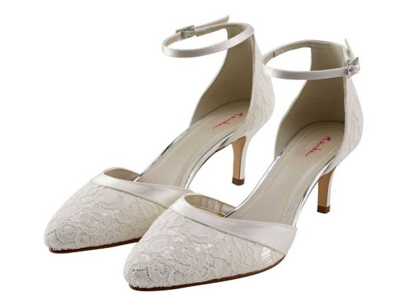 DARCEY - Ivory lace two-part court shoe £85