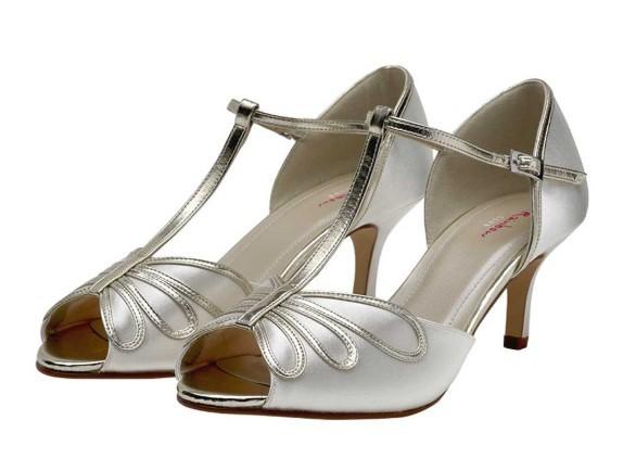 HARLOW - Peep toe satin shoe £85