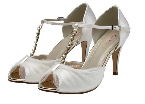 ADRIANNA - Tulle and satin sandals £95