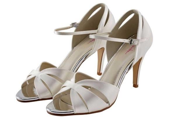 SUE - Ivory satin elegant sandal shoe £79