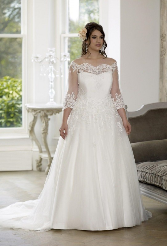 SON91610 - Beaded boat neck off the shoulder lace top with beaded lace waist detail