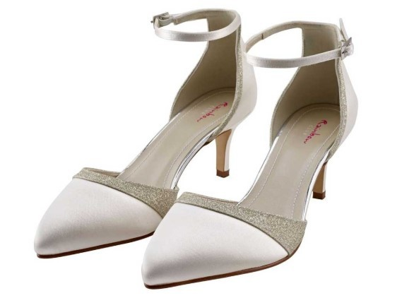 RAINBOW CLUB - FLO - Two piece ivory satin court shoe