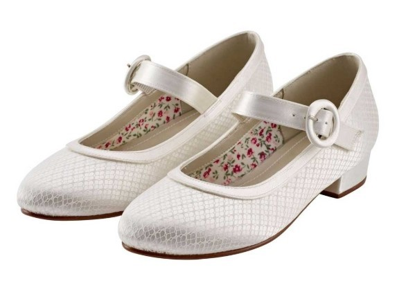 RAINBOW CLUB - AUBREE - Ivory lace Mary-Jane shoe
