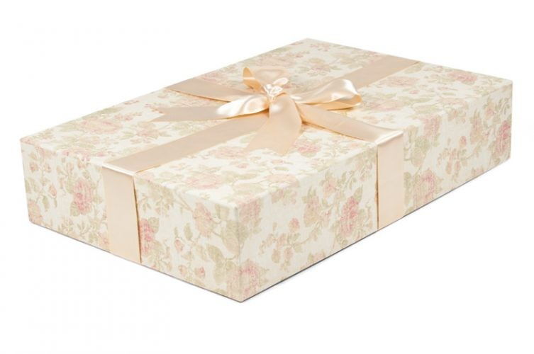 Traditional Standard Wedding Dress Box - Shown in Antique Pink
