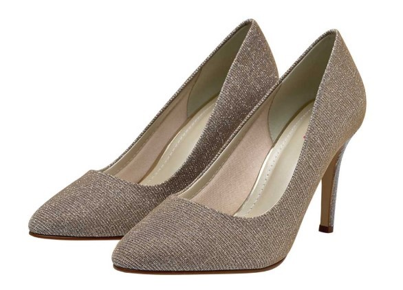TWIGGY - Sparkly metallic court shoe £85