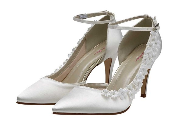 RAINBOW CLUB - FERN - Ivory blossom court shoe