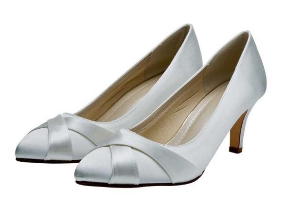 LEXI - White satin court shoe £79
