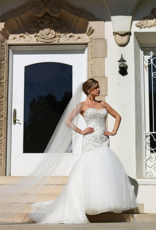 Fitted strapless sweetheart mermaid gown