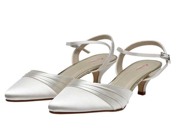 JULIE - Ivory satin two piece court shoe £69