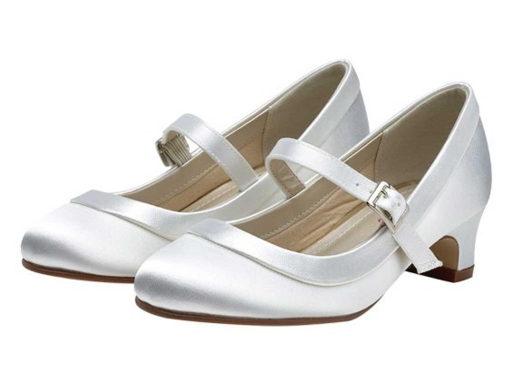 RAINBOW CLUB - MAISIE - White satin bar shoe £33 (10-1) £38 (2-5)