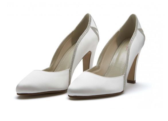 KOURTNEY - Ivory satin & shimmer court shoe