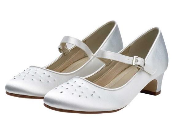 RAINBOW CLUB - VERITY - White satin bar shoe £33 (10-1) £38 (2-5)