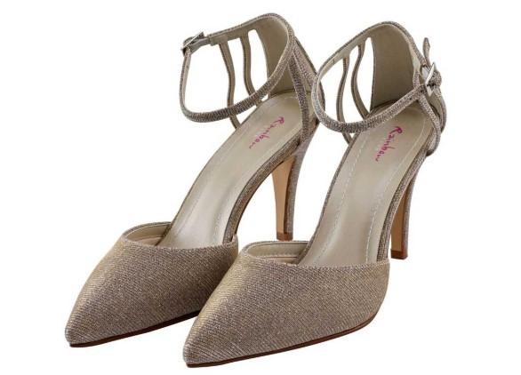 KENNEDY - Gold metallic  court shoe £79