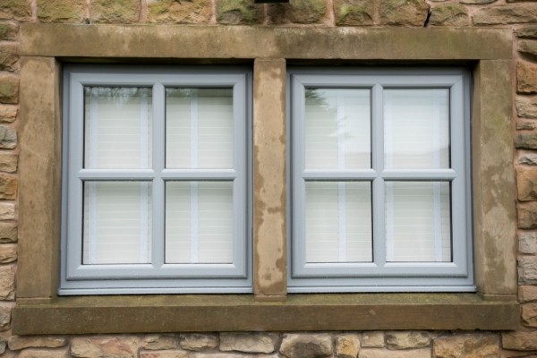 Silver grey UPVC windows