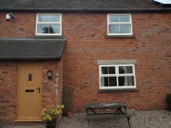 Cream UPVC cottage Windows & Rock Door