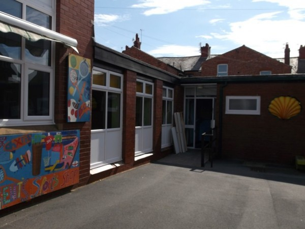 White UPVC Frames (School Blackpool)