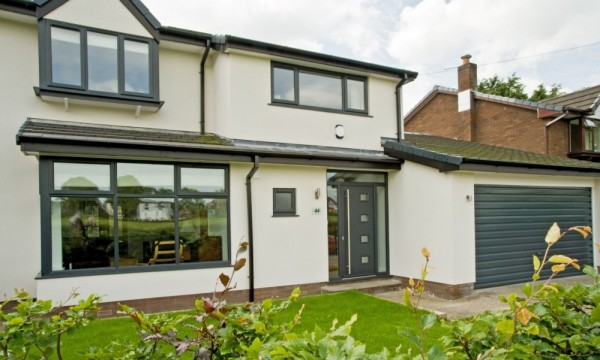 Anthracite grey UPVC windows & composite door
