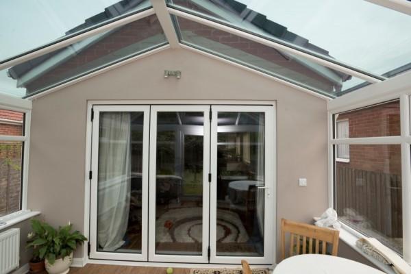 White UPVC Bi-Folding Doors