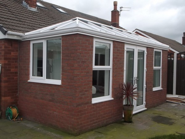 White Orangery With Glass Roof
