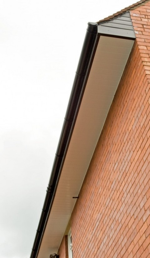 Black UPVC Fascias & White Soffits