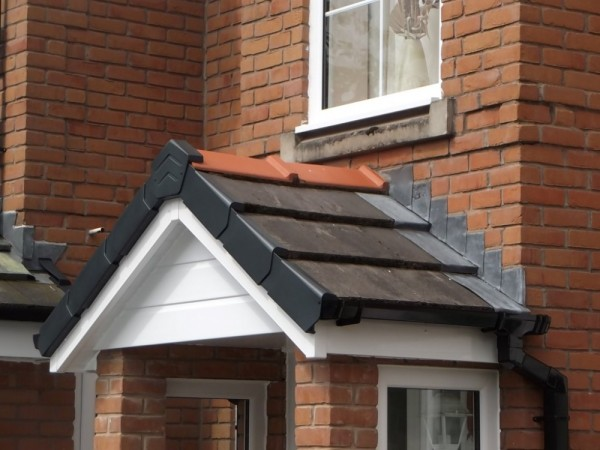 White UPVC Fascias,soffits & Black Dry Verge