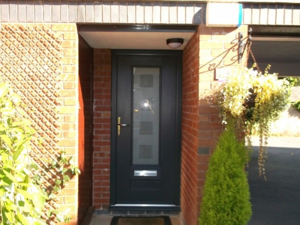 Anthracite Grey Rock Door